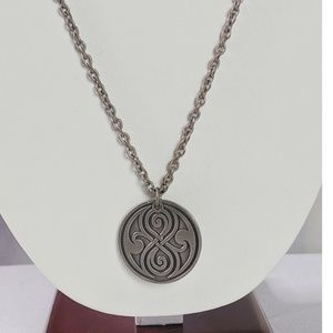 BBC Jewelry - Doctor Dr. Who Silver Tone Symbol Necklace by BBC